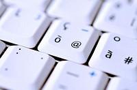 Close up shot of a keyboard @