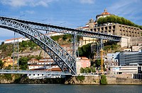 Ponte Dom Luis, Bridge in Porto, Portugal - Detail