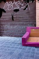Abandoned Sofa in the street, Valencia, Spain