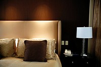 Headboard and Bed at Bellagio Hotel and Casino, Las vegas, NV, USA