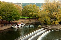 BThe weir on the River Avon at Bath