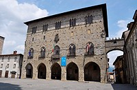 Pistoia (Italy): Piazza del Duomo, with the Palazzo del Comune (City Hall)