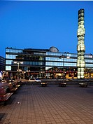Sergels Torg square at dusk, Stockholm, Sweden