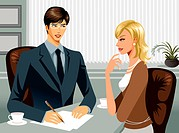 Business people working together in office (thumbnail)