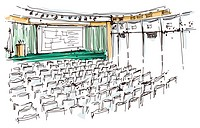 Illustration of auditorium (thumbnail)