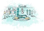 Clothes showroom
