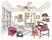 Study Room interior (thumbnail)
