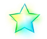 Star shape on white background