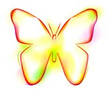 Butterfly shape on white background (thumbnail)