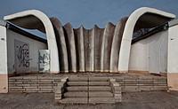 Musikpavillon 1987 von Ulrich Mther 1934_2007, Rckansicht v Sdosten, Seeseite