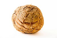 African soccer ball made of banana leaves