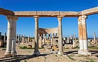 The market at Leptis Magna, Libya