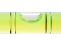 Close_up of a spirit level, isolated on white