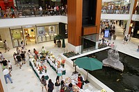 Florida, Miami, Aventura Mall, shopping, shoppers, fountain, enclosed, complex,