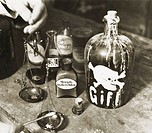 DIG Germany, around 1923, poison mix, poison mixers, poison, chemical, warning reference Totenkopf, pharmacist mix medicine, medicine, balance, weigh,...