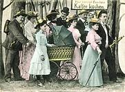 DIG Germany, around 1905, Waldsparziergang, humor, Spaziergaenger, forest, masses of people go walking to walk, forest portion, week final trip, Sunda...