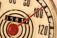 DIG, DEU, Germany, around 1954, older, odometer, speedometer, Tacho, speed, speed, TAC hone aristocracy, 100, km/h, kilometer, one hundred, fast, spee...
