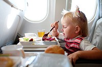 eating in the airplane