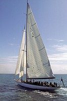 The J-class yacht Velsheda was designed by Charles Ernest Nicholson and built in 1933 by Camper and Nicholsons at Gosport, Hampshire  She was built fo...