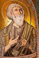 Mosaic in Cappella Palatina, Palazzo dei Normanni, Palermo, Sicily, Italy