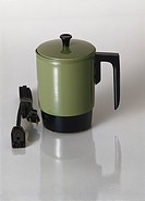 Coffee maker on white background, close_up