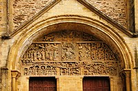 France-Aveyron- Pilgrimage way to Santiago de Compostela: Conques Concas in occitan is a commune in the Aveyron department in southern France The vill...