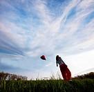 Girl on grassland