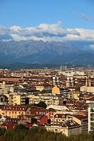 Italy, Piedmont, Turin, general view, skyline.