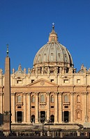 Italy, Rome, Vatican, St Peter´s Basilica,