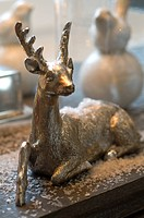 Christmas deer figurine