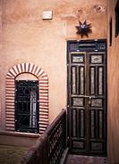 door and window riad, Marrakech, Morocco