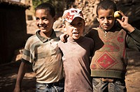 Berber children in the High Atlas, Azilal, Morocco