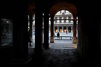 archi e colonne, venezia, italia