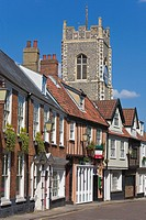 Terraced houses, Princes St, Norwich, Norfolk, England