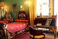 The Ringling master bedroom on the second floor of the Ca D'Zan mansion in Sarasota Florida USA