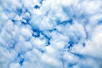 Cloudy blue sky zenith