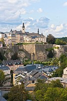 Overview of Luxembourg City, Luxembourg, Europe