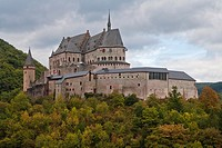 The picturesque castle of Vianden, Luxemburg, Europe