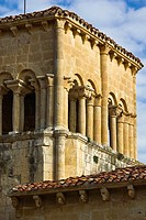The Romanesque church of El Almiñe - Valle de Valdivielso - Burgos - Castilla y Leon - Spain - Europe