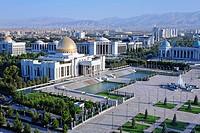 The Palace of Turkmenbashi in Independence Square, Ashgabat, Turkmenistan