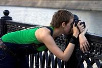 Shooting photographer