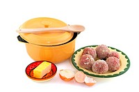 Baking Dutch meatballs