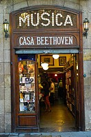Shop front on Las Ramblas, Barcelona, Spain