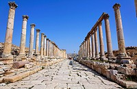 Colonnaded Street at Gerasa, Jerash, Jordan