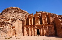 The Monastery, sculpted out of the rock, at Petra, Jordan