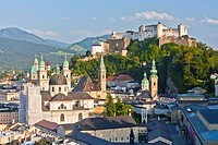 View over the city of Salzburg, Austria, Europe