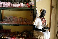 Candomble artefacts for sale at a shop in Cachoeira, Bahia, Brazil