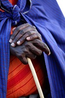 Detail of hands of a Maasai men, Ngogongoro conservation Area, Tanzania