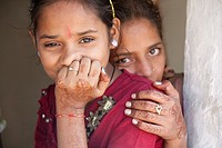 Two sisters - Shyampura Village, Rajasthan, India