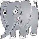 A smiling elephant
